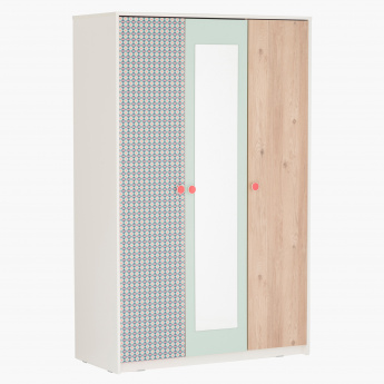 Morocco Minty 3-Door Wardrobe with Mirror