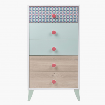 Morocco Minty 5-Drawer Chest of Drawers