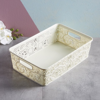 Cutout Detail Storage Basket - 10 L