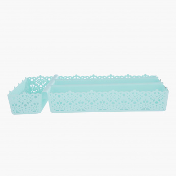 Lace Cutlery Tray - 33x22x5 cms