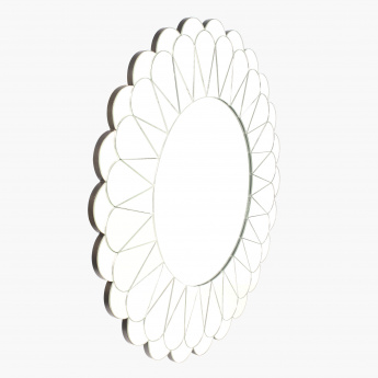 Concasa Decorative Round Mirror - 80x80x1.9 cms