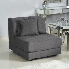 Emotion Armless Chair with 2 Cushions