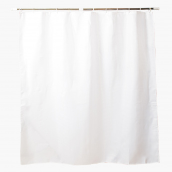 Dobby Jacquard Shower Curtain with 12 Hooks - 180x180 cms