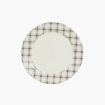 Claytan Plaid Printed Dinner Plate