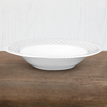Bella Embossed Soup Plate  - 21 cms