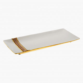 Eon Decorative Embellished Tray - 36x16 cms