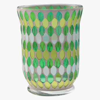 Lapez Mosaic Candle Holder - 11 cms