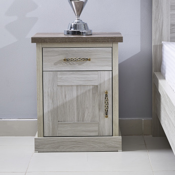Angelic Night Stand with Door and Drawer