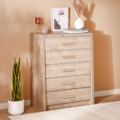 Curvy Chest of 5-Drawers