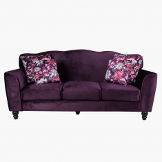 Lukenz 3-Seater Sofa with 4 Cushions