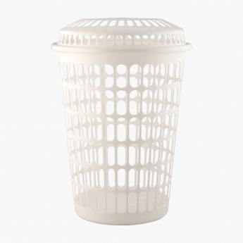 Mica Laundry Basket with Lid - 43x61.5 cms