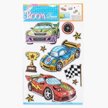 Race Car Printed Self-Adhesive Wall Decor