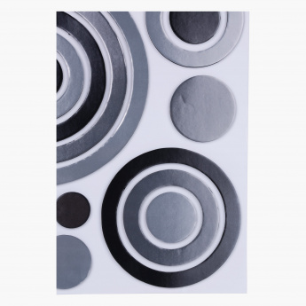 Circle EVA Foam Metallic Room Decor