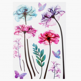 Flower Room Decor Sticker - 60x32.5 cms