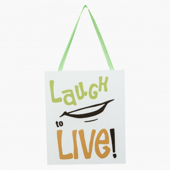Laugh to Live Wall Decor - 24x20 cms
