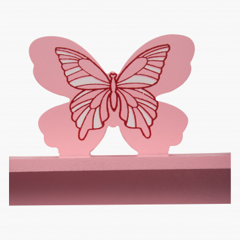 Rosy Butterfly Wall Hooks - 40x21 cms
