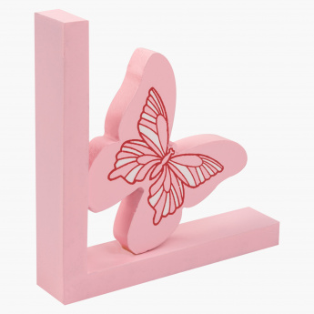 Rosy Butterfly Book End - 30x15 cms