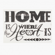 Home Is Where Sweet is Room Decor - 36.5x21 cms