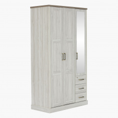 Angelic 3-Door Wardrobe with Mirrors