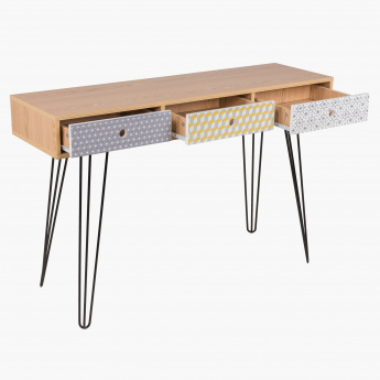 Morocco 3-Drawer Sofa Table