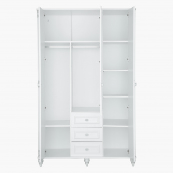 Carla 3-Door Wardrobe with Mirror