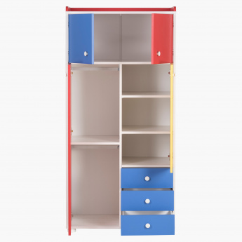 Fun 4-Door 3-Drawer Wardrobe