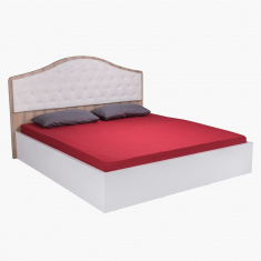 Victoria New Fabric King Bed - 180x200 cms