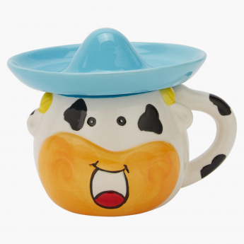 Mexican Printed Mug with Cookie Cap - 266 ml