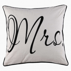 Mrs. Printed Filled Cushion - 45x45 cms
