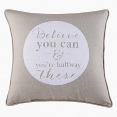 Believe Printed Filled Cushion - 45x45 cms