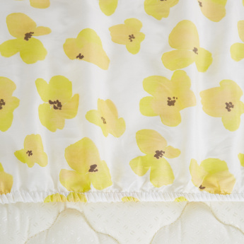 Valerie Floral Printed Twin Fitted Sheet - 120x200 cms