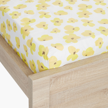 Valerie Floral Printed Queen Fitted Sheet - 150x200 cms