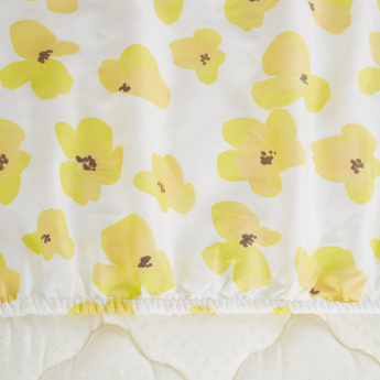 Valerie Floral Printed Super King Fitted Sheet - 200x200 cms
