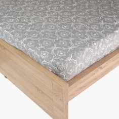 Alvine Printed King Fitted Sheet - 180x200 cms