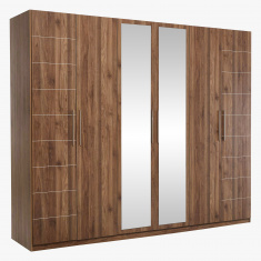 Colombia 6-Door Wardrobe with 2 Mirrors