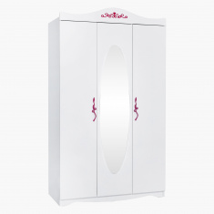 Petunia 3-Door Wardrobe with Mirror