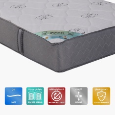 iPocket Pocket Mattress - 200x200x26 cms