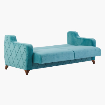 Valentina Textured 3-Seater Sofa Bed with Curved Arms