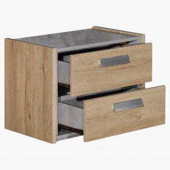 Cementino 2-Drawer Nightstand