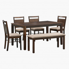Docila 6-Piece Bench and Dining Table Set