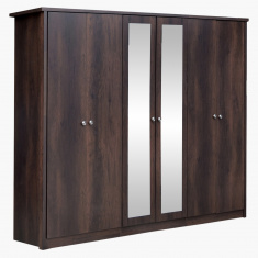 Montoya 6-Door Wardrobe with 2 Mirror