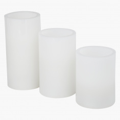 LED Pillar Candle - Set of 3