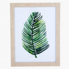 Emerald Forest Tropical Leaf Framed Picture 35x45x2.2