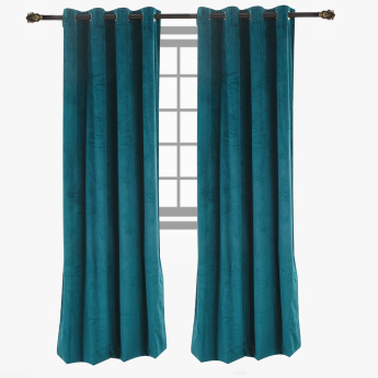 Dove Blackout Velvet Curtain Pair - 140x300 cms