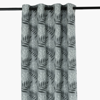 Fern Printed 2-Piece Curtain Set - 140x300 cms