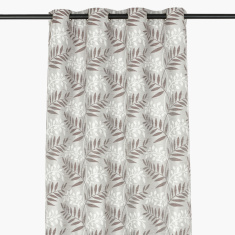 Fern Printed 2- Piece Jacquard Curtain Set - 140x300 cms