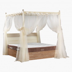 Parkay 4 Poster Bed with Curtains - 200x200 cms