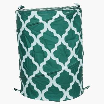 Lattice Printed Foldable Laundry Hamper
