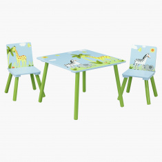 Jungle 3-Piece Kids Table Set