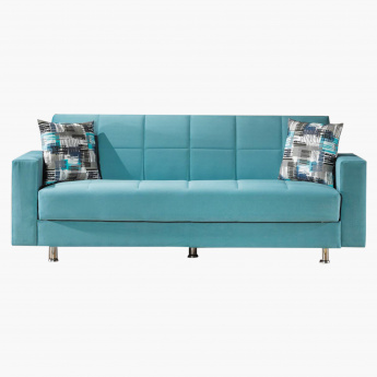finest selection 23872 e9943 Zeus 3-Seater Storage Sofa Bed with Scatter Cushions